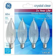 ge皰 60 watt cac incandescent chandelier light bulb soft