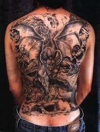 Full Back Bat Tattoo Design Photo