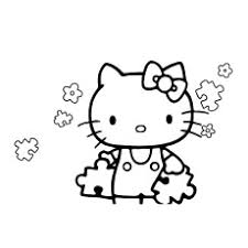 Hello Kitty With Puzzle Pieces Heart Coloring Sheets Printable