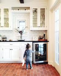 Brick Floor Tile Best Ideas Kitchen Inside Inspirational Red