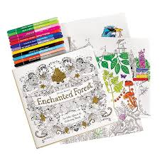 Enchanted Forest An Inky Quest And Coloring Book