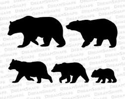 Mama Bear Clipart Black And White 1