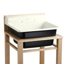 sinks kohler utility sinks park falls sink cabinet stainless
