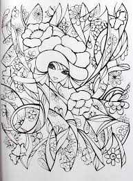 Creative Haven Fanciful Faces Coloring Book Books Miryam Adatto