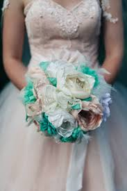 Make A Bridal Bouquet Of Fabric Flowers The Diy Mommy Material Wedding Bouquets