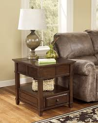 Traditional Dark Brown Norcastle Sofa Table by Gately Rectangular End Table Ashley Home Gallery Stores