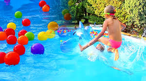 Swimming Pool For Kids Fun With Balls Colors Learning