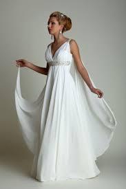 greek style wedding dresses with watteau train 2016 v neck