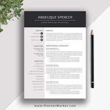 Professional Resume Template, 3 Page CV Template, Creative Modern Resume  Design, Cover Letter, MS Word, The Angelique Resume Free Simple Professional Resume Cv Design Template For Modern Word Editable Job 2019 20 College Students Interns Fresh Graduates Professionals Clean R17 Sophia Keys For Pages Minimalist Design Matching Cover Letter References Writing Create Professional Attractive Resume Or Cv By Application 1920 13 Page And Creative Fully Ms