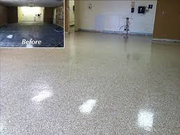 Rust Oleum Decorative Concrete Coating Applicator by Red Gray Design Over Pearl Metallic Marble Epoxy Basement