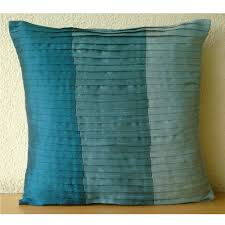 Decorative Couch Pillows Amazon by Amazon Com Luxury Blue Throw Pillows Cover For Couch Color Block
