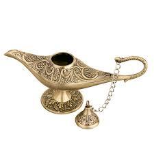 Aladdin Lamp Oil Shelf Life by Amazon Com Feyarl Legend Magic Genie Light Lamp Pot Classic Gold