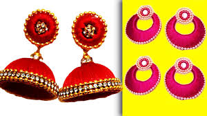 Easy Silk Treads Earrings Making Tutorials | Jhumkas Designs ... How To Make Pearl Bridal Necklace With Silk Thread Jhumkas Quiled Paper Jhumka Indian Earrings Diy 36 Fun Jewelry Ideas Projects For Teens To Make Pearls Designer Jewellery Simple Yet Elegant Saree Kuchu Design At Home How Designer Earrings Home Simple And Double Coloured 3 Step Jhumkas In A Very Easy Silk Earring Bridal Art Creativity 128 Jhumka Multi Coloured Pom Poms Earring Making Jewellery Owl Holder Diy Frame With