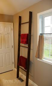 Quickie In The Bathroom by Diy Wooden Ladder For Bathroom Towels Tempting Thyme