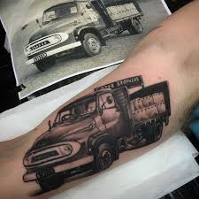100 Truck Tattoo Jake Galleon Tattoo Finished This Family Delivery Truck
