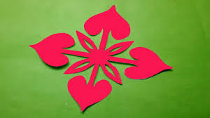 How To Make Easy Simple Paper Cutting Flower Design Kirigami Tutorials