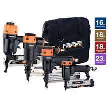 18 Gauge Floor Nailer Home Depot by Freeman Nailer Kit With Canvas Bag 4 Piece P4fncb The Home Depot