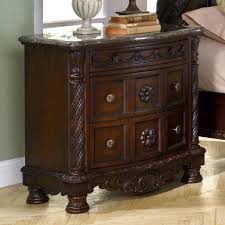 North Shore Sleigh Bedroom Set by Millennium North Shore Night Stand With Half Turned Posts And Feet