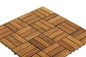 Bare Decor BARE WF2009 Solid Teak Wood Interlocking Flooring Tiles