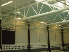 acoustic panels aid in the conversion of a large storage facility