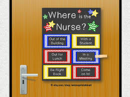 School Nurse Gift Nursing Decor Office Door