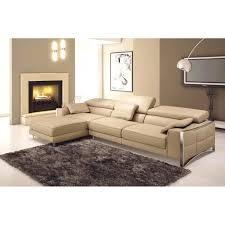 canapé sofa italien canapé d angle en cuir italien 5 places suede achat vente
