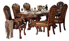 ACME Dresden Formal Dining Room Set With Table And 6 X Chair