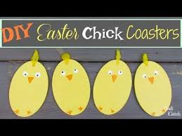 Easy DIY Easter Chick Coasters Another Coaster Friday Craft