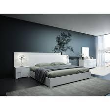 Monza White Platform Bed Modern Bed Frames
