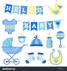 Baby Boy Shower Object Clip Art Stock Vector Shutterstock