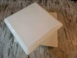couchtisch weiß hochglanz fiberglas tisch drehbar wohnzimmer