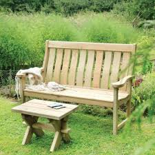 Garden Bench And Seat Pads Lutyens Modern Redwood Patio Furniture Rustic