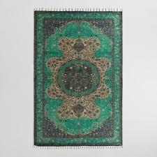 5x8 teal jute soha area rug world market