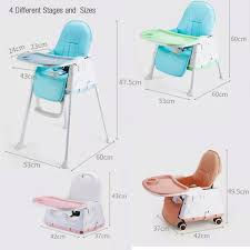 Foldable Baby High Chair With Table, Wheels And Seat ...