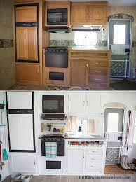 Kitchen Before And After In Camper Renovation