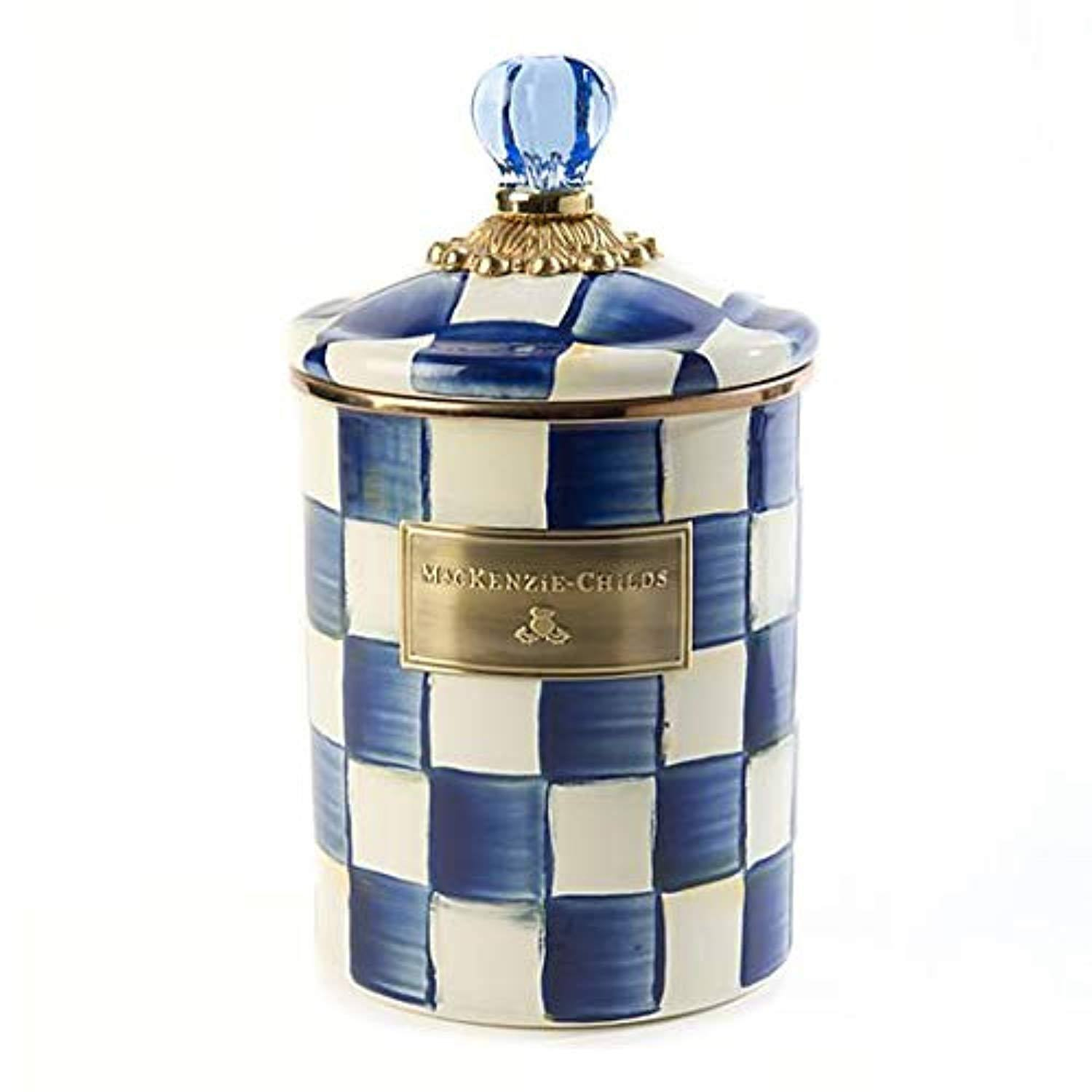 Mackenzie-Childs Royal Check Enamel Canister - Medium