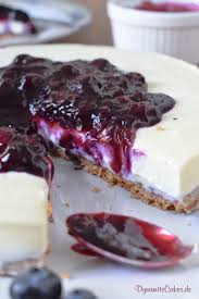 white chocolate cheesecake mit blaubeeren ohne backen