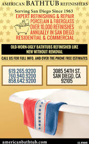 Bathtub Resurfacing San Diego Ca by Bathtub Refinishers American Bathtub San Diego Ca