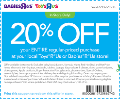 Save Money With Baby Coupons | Printable Coupons Online U Box Coupon Code Crest Cleaners Coupons Melbourne Fl Toy Stores In Metrowest Ma Mamas Spend 50 Get 10 Off 100 Gift Toys R Us Family Friends Sale Nov 1520 Answers To Your Bed Bath Beyond Coupons Faq Coupon Marketing Ecommerce Promotions 101 For 20 Growth Codes Amazonca R Us Off October 2018 Duck Donuts Adventure Opens Chicago A Disappoting Pop Babies Booklet Printable Online Yumble Kids Meals Review Discount Code Kid Congeniality I See The Photo And Driver Is Admirable Red Dye 5