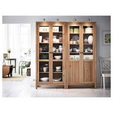 hemnes cabinet with panel glass door red brown ikea