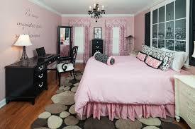 bedroom design black white pink paris themed bedroom design with