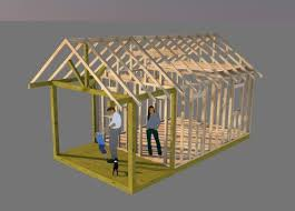 Saltbox Shed Plans 12x16 by Jeff One Of My Customers Modified My 12x16 Saltbox Shed Plans By