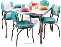 Retro Dining Room Sets Coaster Kersey 103061 Brown Mid Century Table Set 1