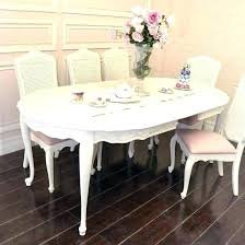 French Dining Table Oval With Black Leather Round Back Chairs Tables