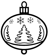 Christmas Ornaments Coloring Ornament Printables