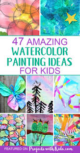 These Watercolor Painting Ideas Will Inspire You And Your Kids To Create Have Fun