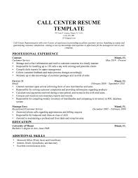 Sample Resumes For Call Center Jobs Professional Resume Template