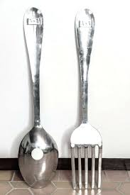 large wooden fork and spoon wall hanging wall arts fork and spoon wall cracker barrel fork and spoon