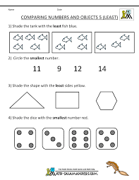 Comparing Numbers And Objects 5 Least
