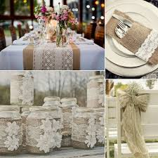 Captivating Diy Burlap And Lace Wedding Decorations 24 With Additional For Tables